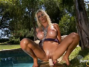 Puma Swede website her cooch on her individual fuck stick outdoor