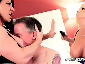 Alura Jenson cougar 3some penetrate with Brandi May