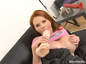 busty sandy-haired milf Tarra white fucking violent faux-cocks