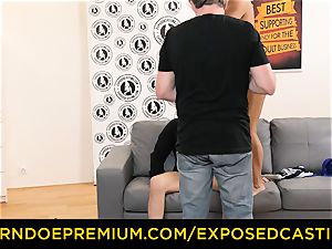 uncovered casting molten minx with glasses penetrated hard