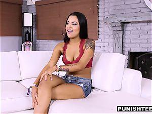 ultra-cute Latina gets a raunchy pornography casting