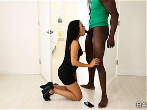 Maya Bijou thirsts a fat big black cock