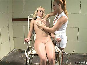 Katy Borman honey torturing a sweetheart nymph on tabouret