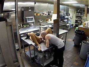 Gianna Nicole nailed in restaurant kitchen