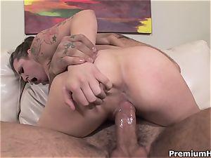 immense all-natural mammories Bailey Blue training hetero hard-core