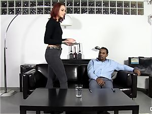 Steak and deep throat - ultra-kinky Silvia Rubi eating a massive fuckpole