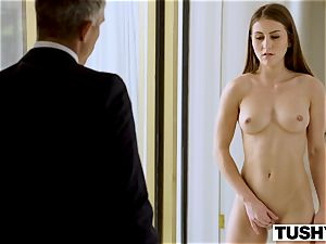 TUSHY secretary Makes Her chief Work For ass-fuck