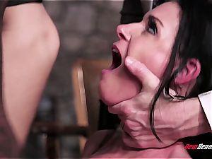 super-fucking-hot wife India Summer orgasming on a dark-hued man rod