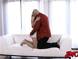 Stepdaughter Adria Rae nailed and tonguing jizz shot