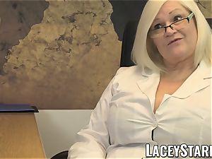 LACEYSTARR - GILF slurps Pascal milky jizz after fuck-a-thon