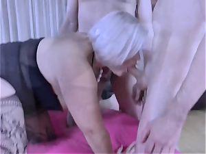 LACEYSTARR - greedy grandmother gang-fucked