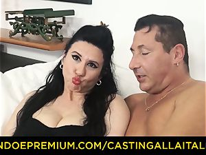 casting ALLA ITALIANA brown-haired nympho rough anal bang-out