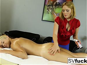 Sarah Vandella girly-girl rubdown
