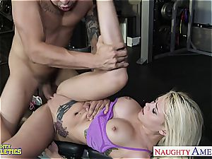 hard ripped Marsha May has the skills to satisfy giant beef whistle well