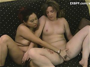 first time amateurs get together to mutually masturbate