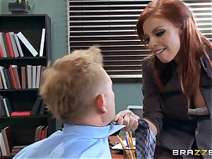 sandy-haired boss Britney Amber bangs a insatiable worker