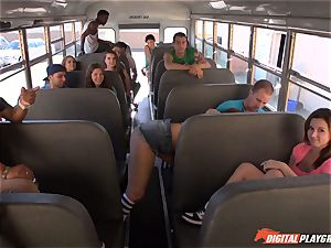 Public college bus cootchie hitting Maddy OReilly