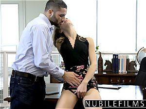 NubileFilms - Office cockslut drilled Till She bursts