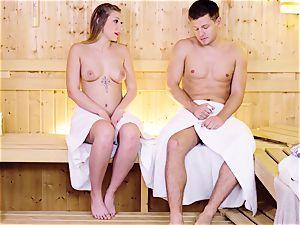 RELAXXXED - Sauna pummel with Serbian blonde Vyvan Hill