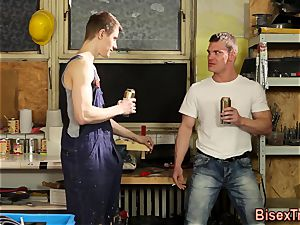 bisexual mega-bitch wanks for jizm
