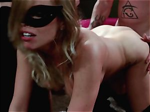 men witness on as Britney Amber and Nikki Daniels gang drill