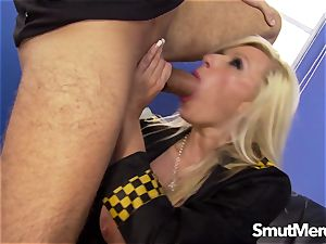 mind-blowing officer Michelle Throne plowed rock-hard