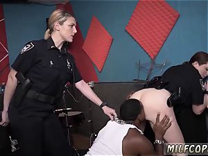 two milf tag team wet video captures cop ripping up a deadbeat dad.