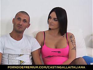 casting ALLA ITALIANA - Blue-eyed gal gets culo plumbed