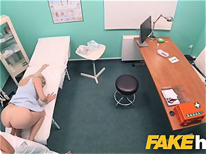 faux hospital fast smashing gives blondie big hooters british