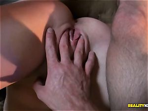 adorable dark haired Eden youthfull stranded taken home and cunt ravaged