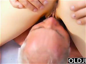 old young porn - nubile fitness Yoga teacher boned firm