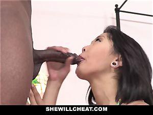 SheWillCheat - chinese wife fucks big black cock man