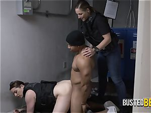perverted milf cops catch purse thief crimson passed as he steals