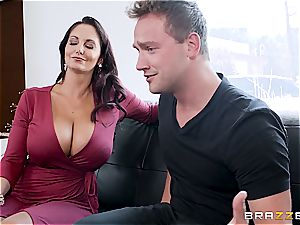 huge-chested milf hunts for beg with underpants in the yard