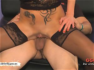 tatted milf Angie the French anal invasion lover