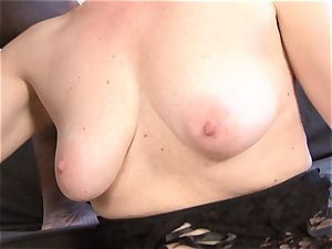 Mature nymph multiracial hardcore cooter poked guzzles