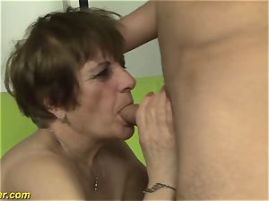 hairy grannies first porno shooting