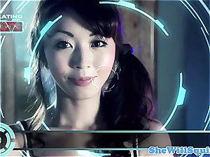 chinese porno star Marica Hase gets a bath facial cumshot