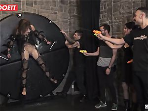 british babe Tina Kay Gets obedient