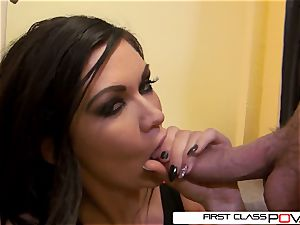 very first ClassPOV- Kendall deep-throat two ginormous spears at same time