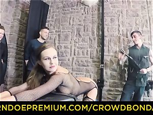 CROWD bondage - extreme domination & submission pulverize wheel with Tina Kay