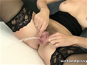 This blonde darling enjoys to bust so much