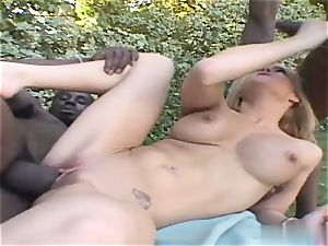 Crista Moore let out some ample squeals today as she got poked before