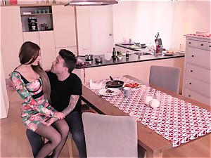 Steak and bj - Kitana Lure providing head to her dude