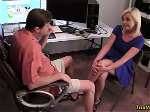 drilling the hot secretary