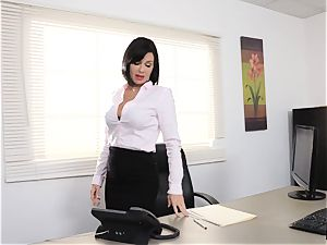 spurting dark haired Veronica Avluv labia tucked and fisted
