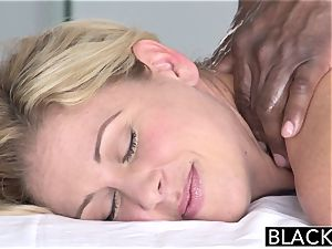 BLACKED molten Southern blondie Takes ample dark-hued trouser snake