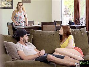 Bratty sista - witnessing TV, Caught penetrating My StepSister