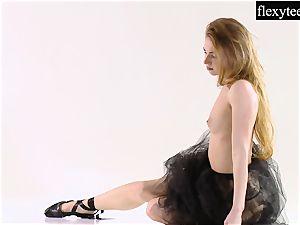 stunning lady showcases her impressive gymnastic talents