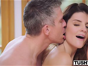 TUSHY big-titted brown-haired Gets Her donk predominated By manager